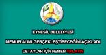 Eynesil Belediyesi memur alımı