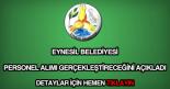 Eynesil Belediyesi personel alımı