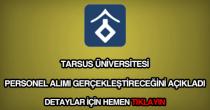 Tarsus Üniversitesi personel alımı