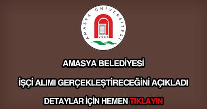 Amasya Üniversitesi işçi alımı
