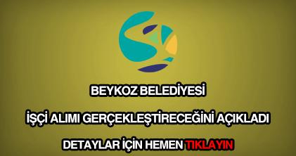 Beykoz Belediyesi işçi alımı