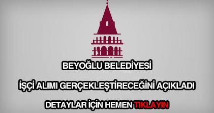Beyoğlu Belediyesi işçi alımı
