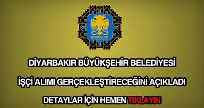 Diyarbakır Belediyesi işçi alımı
