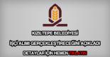 Kızıltepe Belediyesi işçi alımı