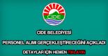 Cide Belediyesi personel alımı