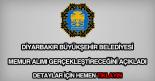 Diyarbakır Belediyesi memur alımı