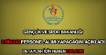 Gençlik ve Spor Bakanlığı 3243 personel alımı