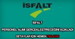 İSFALT personel alımı