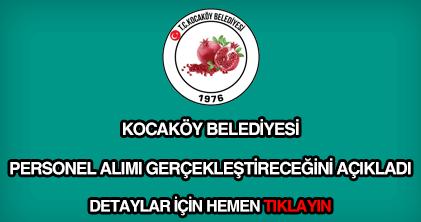Kocaköy Belediyesi personel alımı
