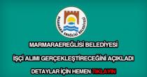 Marmaraereğlisi Belediyesi işçi alımı