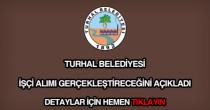 Turhal Belediyesi işçi alımı