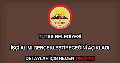 Tutak Belediyesi işçi alımı