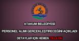 Atakum Belediyesi personel alımı