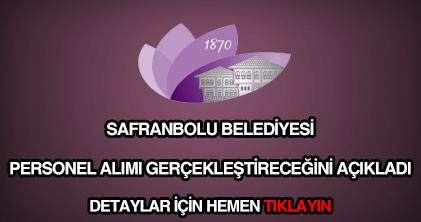 Safranbolu Belediyesi personel alımı