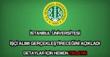 İstanbul Üniversitesi işçi alımı