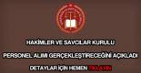Hakimler ve Savcılar Kurulu personel alımı