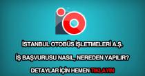İstanbul Otobüs A.Ş. personel alımı