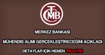 Merkez Bankası mühendis alımı
