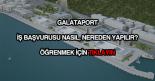 Galataport iş başvurusu