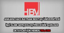 Hacı bayram bektaş üniversitesi işçi alımı
