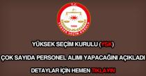 YSK personel alımı