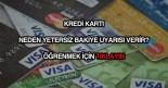 Kredi kartı yetersiz bakiye uyarısı