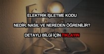 Elektrik işletme kodu öğrenme