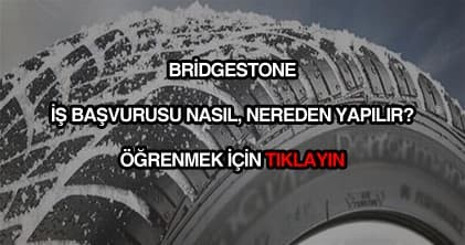 Bridgestone iş başvurusu