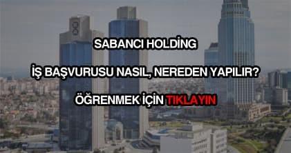 Sabancı Holding iş başvurusu
