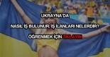 Ukrayna'da iş bulmak